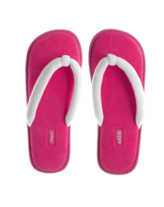 "Coral Velours Slipper ""Spa de Luxe"""