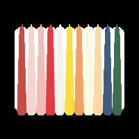 Leuchterkerzen, farbig