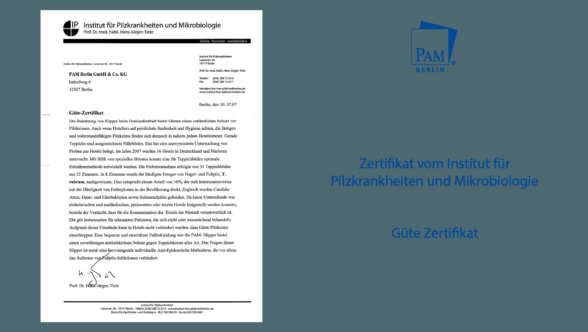 Güte Zertifikat