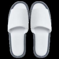 Frottee Comfort Open, weiß-grau, 29cm