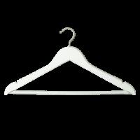 Kleiderbügel mit Steg, weiß