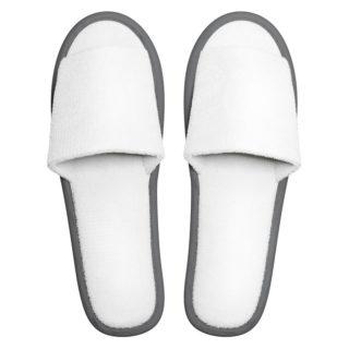 Frottee Comfort Open, weiß/grau, 29cm