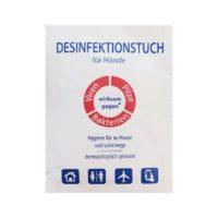 Hände-Desinfektion im Sachet